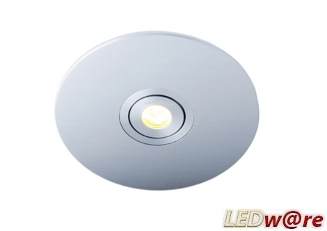 LED inbouwplaat | 1 LEDs | Rond | Lumoluce R120