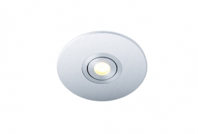 LED inbouwplaat | 1 LEDs | Rond | Lumoluce R100 | Wit