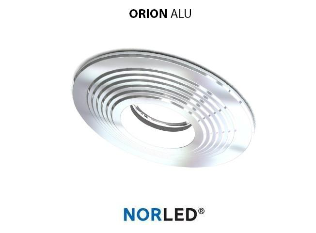 NORLED | LED inbouwspot | 1 LED | Rond | 3 W | Warm Wit | ORION GLANZEND ALU