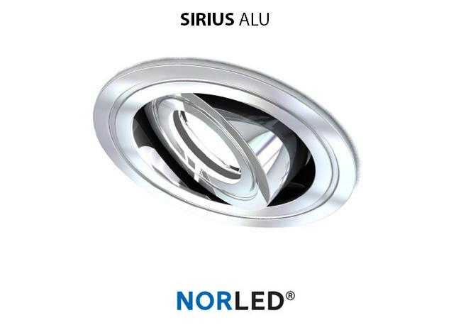 NORLED | LED inbouwspot | 1 LED | Rond | 3 W | Warm Wit | SIRIOS GLANZEND ALU